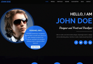 Trang chủ web cá nhân