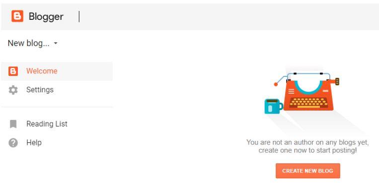 Tạo tài khoản để sử dụng blogspot trên blogger