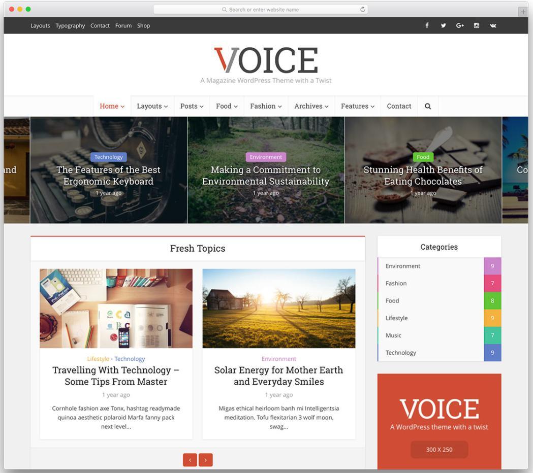 Mẫu Voice cách làm blog đẹp