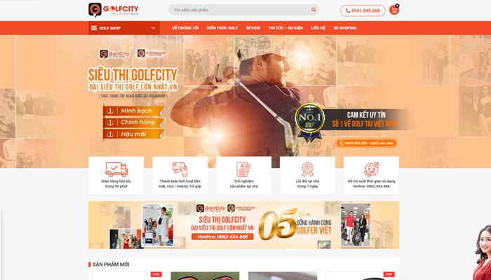 Siêu thị phụ kiện, quần áo golf online - Golfcity