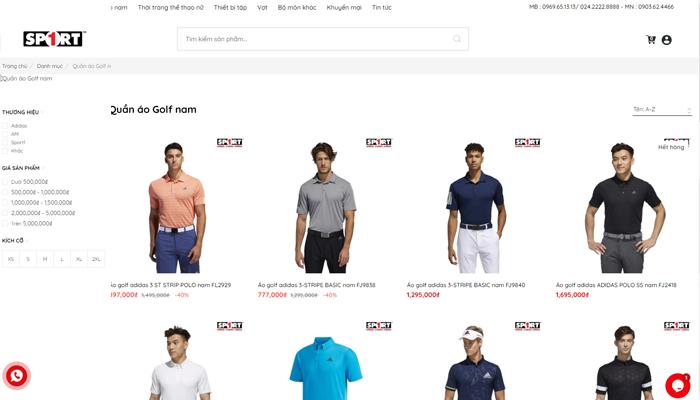 Shop quần áo golf online giá rẻ - Sport 1