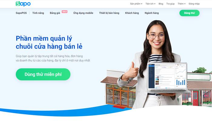 Phần mềm quản lý chuỗi cửa hàng miễn phí - Sapo
