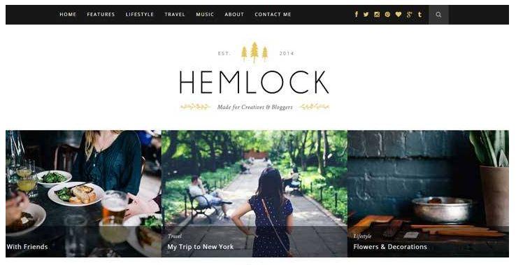 Mẫu giao diện blog cá nhân Hemlock