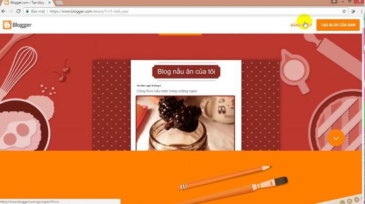 Tạo blog cá nhân với Blogger