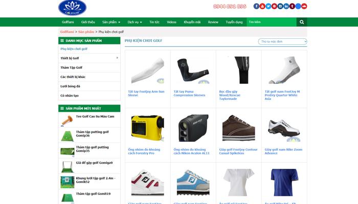 Cửa hàng bán trang phục golf - Golffami
