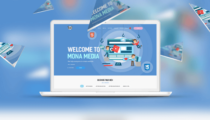 công ty thiết kế website trọn gói Mona Media